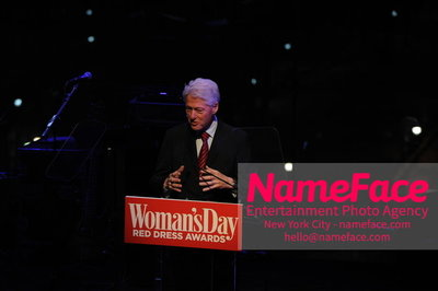 Womans Day Red Dress Awards to benefit the American Heart Associations Go Red For Women 2014 Bill Clinton - NameFace Photo Agency New York City - hello@nameface.com - nameface.com - Photo by