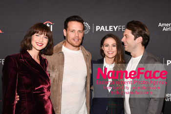 Outlander at the PaleyFest Caitriona Balfe, Sam Heughan, Sophie Skelton and Richard Rankin - NameFace Photo Agency New York City - hello@nameface.com - nameface.com - Photo by Daniela Kirsch