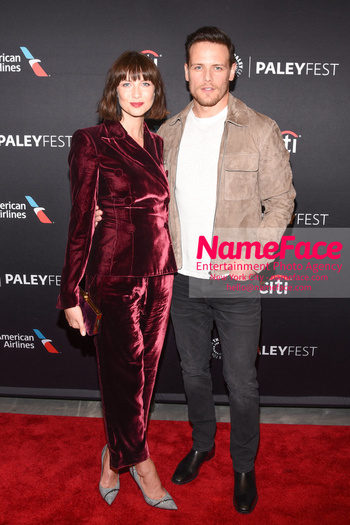 Outlander at the PaleyFest Caitriona Balfe and Sam Heughan - NameFace Photo Agency New York City - hello@nameface.com - nameface.com - Photo by Daniela Kirsch