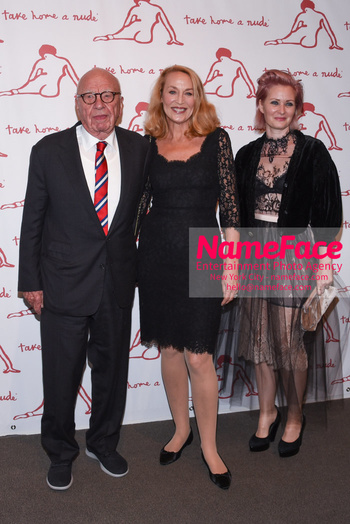 Take Home A Nude 2018 Rupert Murdoch and Jerry Hall - NameFace Photo Agency New York City - hello@nameface.com - nameface.com - Photo by Daniela Kirsch