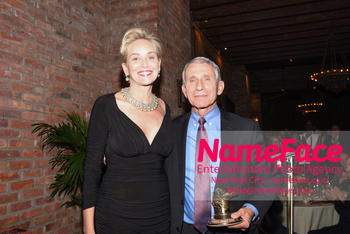 Drugs for Neglected Diseases Initiative Gala DNDi Making Medical History Sharon Stone and Dr. Anthony Fauci - NameFace Photo Agency New York City - hello@nameface.com - nameface.com - Photo by Daniela Kirsch