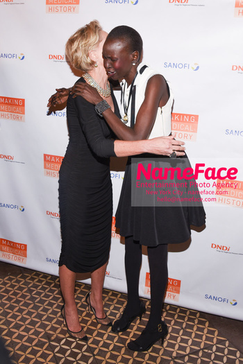 Drugs for Neglected Diseases Initiative Gala DNDi Making Medical History Sharon Stone and Alek Wek - NameFace Photo Agency New York City - hello@nameface.com - nameface.com - Photo by Daniela Kirsch