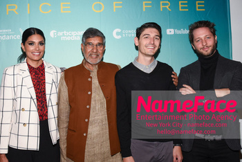 YouTube & Participant Media host a screening of The Price of Free Rachel Roy, Kailash Satyarthi, Derek Doneen and Derek Blasberg - NameFace Photo Agency New York City - hello@nameface.com - nameface.com - Photo by Daniela Kirsch