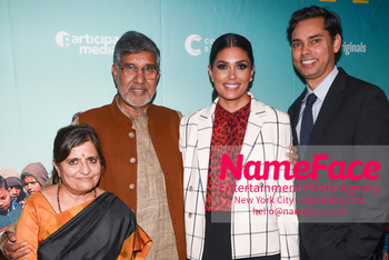 YouTube & Participant Media host a screening of The Price of Free Sumedha Satyarthi and Kailash Satyarthi, Rachel Roy and Rajendra Roy - NameFace Photo Agency New York City - hello@nameface.com - nameface.com - Photo by Daniela Kirsch