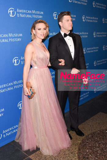 American Museum of Natural History Gala 2018, Arrivals Scarlett Johansson and Colin Jost - NameFace Photo Agency New York City - hello@nameface.com - nameface.com - Photo by Daniela Kirsch