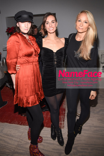 Sophie Auster x Kabinett Holiday Party Sophie Auster and Indira Cesarine - NameFace Photo Agency New York City - hello@nameface.com - nameface.com - Photo by Daniela Kirsch