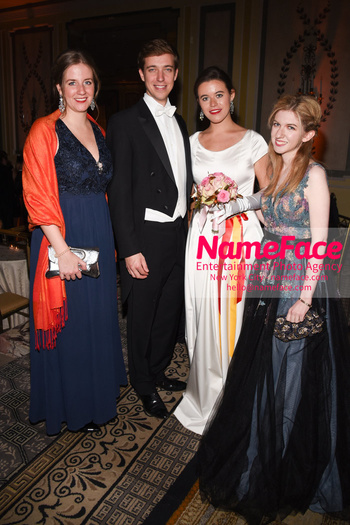 The 64th International Debutante Ball Princess Maria of Liechtenstein - Prinzessin Maria von Liechtenstein, Princess Aurelia of Liechtenstein - Prinzessin Aurelia von Liechtenstein, Archduke Michael of	Austria - Erzherzog Michael von Österreich and Victoria Gordon - NameFace Photo Agency New York City - hello@nameface.com - nameface.com - Photo by Daniela Kirsch