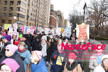 Women's March New York City Atmosphere - NameFace Photo Agency New York City - hello@nameface.com - nameface.com - Photo by Daniela Kirsch