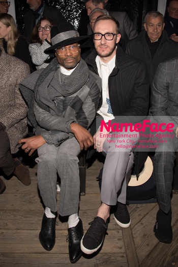 Joseph Abboud Show, Front Row, New York Fashion Week Men's Billy Porter and Adam Smith - NameFace Photo Agency New York City - hello@nameface.com - nameface.com - Photo by Daniela Kirsch