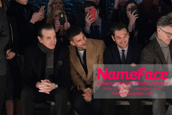 Joseph Abboud Show, Front Row, New York Fashion Week Men's Chazz Palminteri and Johannes Huebl - NameFace Photo Agency New York City - hello@nameface.com - nameface.com - Photo by Daniela Kirsch