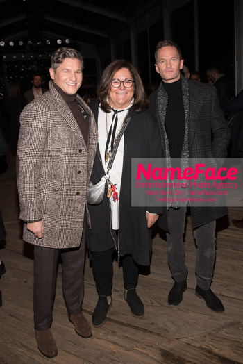 Joseph Abboud Show, Front Row, New York Fashion Week Men's David Burtka, Fern Mallis and Neil Patrick Harris - NameFace Photo Agency New York City - hello@nameface.com - nameface.com - Photo by Daniela Kirsch