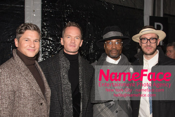 Joseph Abboud Show, Front Row, New York Fashion Week Men's Neil Patrick Harris, David Burtka, Billy Porter, and Adam Smith - NameFace Photo Agency New York City - hello@nameface.com - nameface.com - Photo by Daniela Kirsch