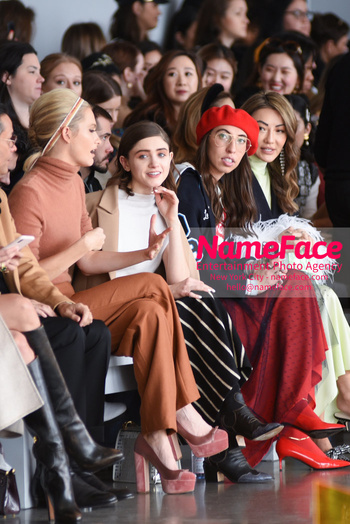 Noon By Noor - Front Row - February 2019 - New York Fashion Week Poppy Delevingne, Natalia Dyer and Caroline Vazzana - NameFace Photo Agency New York City - hello@nameface.com - nameface.com - Photo by Daniela Kirsch