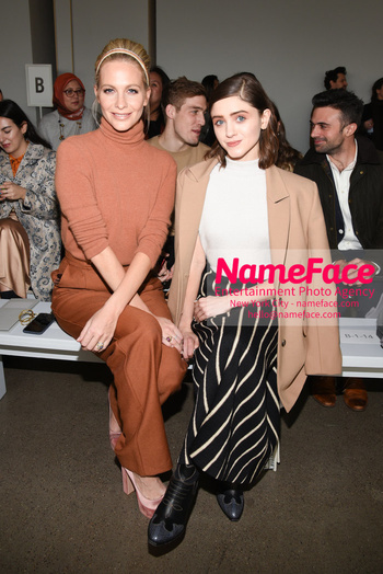 Noon By Noor - Front Row - February 2019 - New York Fashion Week Poppy Delevingne and Natalia Dyer - NameFace Photo Agency New York City - hello@nameface.com - nameface.com - Photo by Daniela Kirsch