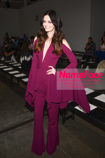 Pamella Roland - Front Row - February 2019 - New York Fashion Week Lydia Hearst - NameFace Photo Agency New York City - hello@nameface.com - nameface.com - Photo by Daniela Kirsch