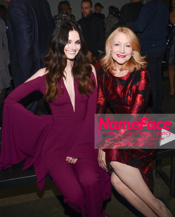 Pamella Roland - Front Row - February 2019 - New York Fashion Week Lydia Hearst and Patricia Clarkson - NameFace Photo Agency New York City - hello@nameface.com - nameface.com - Photo by Daniela Kirsch