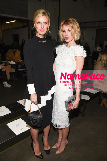 Pamella Roland - Front Row - February 2019 - New York Fashion Week Nicky Hilton and Tessa Hilton - NameFace Photo Agency New York City - hello@nameface.com - nameface.com - Photo by Daniela Kirsch