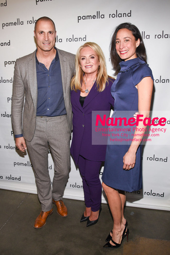 Pamella Roland - Front Row - February 2019 - New York Fashion Week Nigel Barker, Pamella Roland and Jackie Lividini - NameFace Photo Agency New York City - hello@nameface.com - nameface.com - Photo by Daniela Kirsch