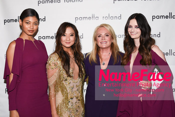 Pamella Roland - Front Row - February 2019 - New York Fashion Week Danielle Herrington, Ashley Park, Pamella Roland and Lydia Hearst - NameFace Photo Agency New York City - hello@nameface.com - nameface.com - Photo by Daniela Kirsch