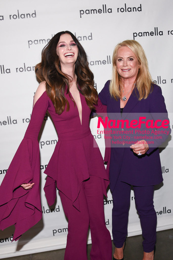 Pamella Roland - Front Row - February 2019 - New York Fashion Week Lydia Hearst and Pamella Roland - NameFace Photo Agency New York City - hello@nameface.com - nameface.com - Photo by Daniela Kirsch