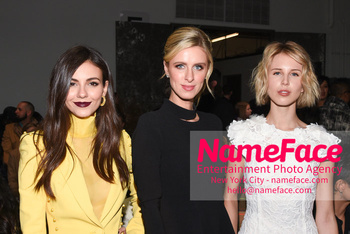 Pamella Roland - Front Row - February 2019 - New York Fashion Week Victoria Justice, Nicky Hilton and Tessa Hilton - NameFace Photo Agency New York City - hello@nameface.com - nameface.com - Photo by Daniela Kirsch