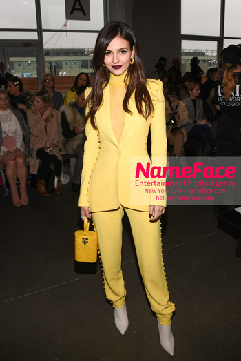 Pamella Roland - Front Row - February 2019 - New York Fashion Week Victoria Justice - NameFace Photo Agency New York City - hello@nameface.com - nameface.com - Photo by Daniela Kirsch