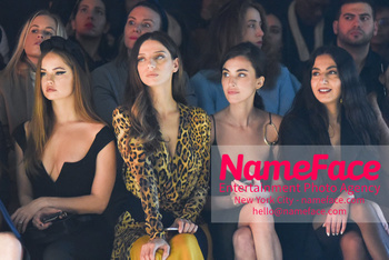 Cushnie - Front Row - February 2019 - New York Fashion Week Debby Ryan, Angela Sarafyan and Rainey Qualley - NameFace Photo Agency New York City - hello@nameface.com - nameface.com - Photo by Daniela Kirsch