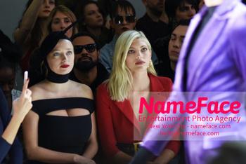 Chiara Boni La Petit Robe - Front Row - February 2019 - New York Fashion Week Caroline Vreeland and Devon Windsor - NameFace Photo Agency New York City - hello@nameface.com - nameface.com - Photo by Daniela Kirsch
