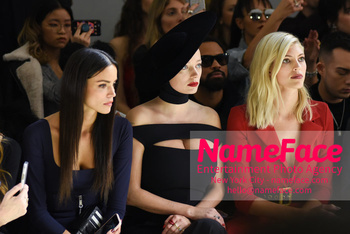 Chiara Boni La Petit Robe - Front Row - February 2019 - New York Fashion Week Sofia Resing, Caroline Vreeland and Devon Windsor - NameFace Photo Agency New York City - hello@nameface.com - nameface.com - Photo by Daniela Kirsch
