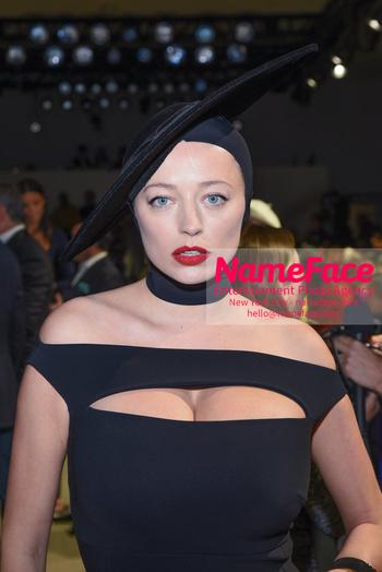 Chiara Boni La Petit Robe - Front Row - February 2019 - New York Fashion Week Caroline Vreeland - NameFace Photo Agency New York City - hello@nameface.com - nameface.com - Photo by Daniela Kirsch