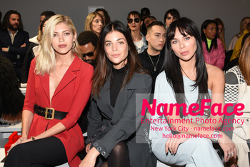 Chiara Boni La Petit Robe - Front Row - February 2019 - New York Fashion Week Devon Windsor, Julia Restoin-Roitfeld and Liliana Nova Matthäus - NameFace Photo Agency New York City - hello@nameface.com - nameface.com - Photo by Daniela Kirsch