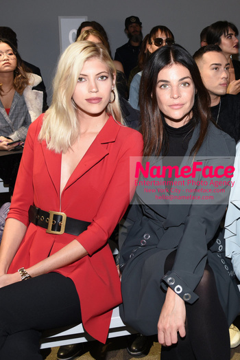 Chiara Boni La Petit Robe - Front Row - February 2019 - New York Fashion Week Devon Windsor and Julia Restoin-Roitfeld - NameFace Photo Agency New York City - hello@nameface.com - nameface.com - Photo by Daniela Kirsch