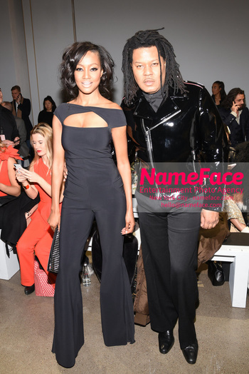Chiara Boni La Petit Robe - Front Row - February 2019 - New York Fashion Week Nichole Galicia and Ty-Ron Mayes - NameFace Photo Agency New York City - hello@nameface.com - nameface.com - Photo by Daniela Kirsch