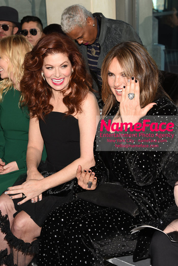 Christian Siriano - Front Row - February 2019 - New York Fashion Week Debra Messing and Mariska Hargitay - NameFace Photo Agency New York City - hello@nameface.com - nameface.com - Photo by Daniela Kirsch