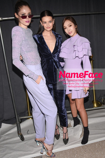 Christian Siriano - Front Row - February 2019 - New York Fashion Week Coco Rocha, Lydia Hearst and Jessica Jung - NameFace Photo Agency New York City - hello@nameface.com - nameface.com - Photo by Daniela Kirsch