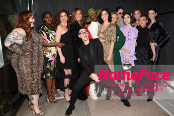Christian Siriano - Front Row - February 2019 - New York Fashion Week Debra Messing, Mariska Hargitay, Kelli Giddish, Coco Rocha, Christian Siriano, Christina Hendricks, Christina Ricci and Lydia Hearst - NameFace Photo Agency New York City - hello@nameface.com - nameface.com - Photo by Daniela Kirsch