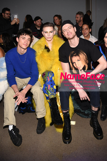Christian Cowan - Front Row - February 2019 - New York Fashion Week Jacob Bixenman and Aquaria Giovanni Palandrani - NameFace Photo Agency New York City - hello@nameface.com - nameface.com - Photo by Daniela Kirsch