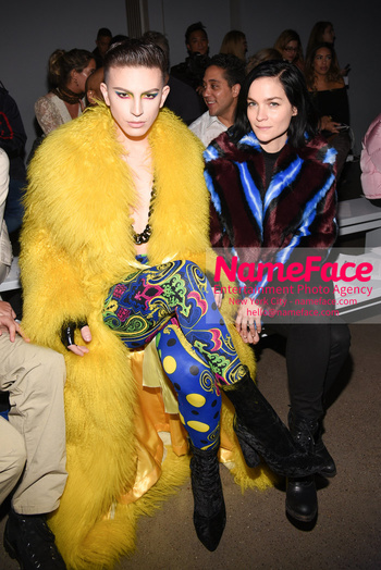 Christian Cowan - Front Row - February 2019 - New York Fashion Week Aquaria Giovanni Palandrani and Leigh Lezark - NameFace Photo Agency New York City - hello@nameface.com - nameface.com - Photo by Daniela Kirsch