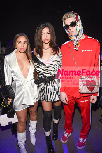 Christian Cowan - Front Row - February 2019 - New York Fashion Week Heather Briganti, Connor Botterill and Shi Anderson - NameFace Photo Agency New York City - hello@nameface.com - nameface.com - Photo by Daniela Kirsch
