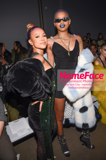 Christian Cowan - Front Row - February 2019 - New York Fashion Week Karrueche Tran and Slick Woods - NameFace Photo Agency New York City - hello@nameface.com - nameface.com - Photo by Daniela Kirsch