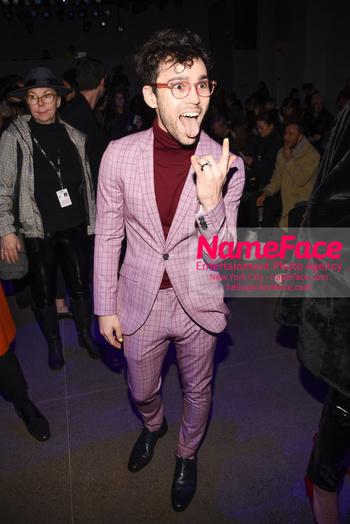 Christian Cowan - Front Row - February 2019 - New York Fashion Week Max Schneider - NameFace Photo Agency New York City - hello@nameface.com - nameface.com - Photo by Daniela Kirsch