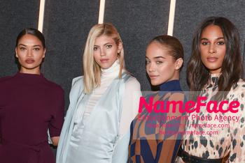 Boss - Front Row - February 2019 - New York Fashion Week Shanina Shaik, Devon Windsor, Jasmine Sanders and Cindy Bruna - NameFace Photo Agency New York City - hello@nameface.com - nameface.com - Photo by Daniela Kirsch