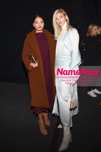 Boss - Front Row - February 2019 - New York Fashion Week Shanina Shaik and Devon Windsor - NameFace Photo Agency New York City - hello@nameface.com - nameface.com - Photo by Daniela Kirsch