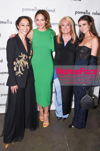 Pamella Roland - Front Row - September 2019 - New York Fashion Week Cara Santana, Katharine McPhee, Pamella Roland and Victoria Justice - NameFace Photo Agency New York City - hello@nameface.com - nameface.com - Photo by Daniela Kirsch