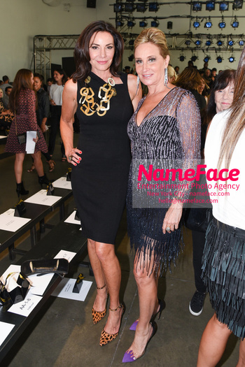 Pamella Roland - Front Row - September 2019 - New York Fashion Week Countess LuAnn de Lesseps and Sonja Morgan - NameFace Photo Agency New York City - hello@nameface.com - nameface.com - Photo by Daniela Kirsch