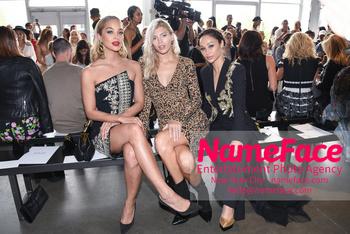 Pamella Roland - Front Row - September 2019 - New York Fashion Week Jasmine Sanders, Devon Windsor and Cara Santana - NameFace Photo Agency New York City - hello@nameface.com - nameface.com - Photo by Daniela Kirsch