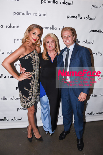 Pamella Roland - Front Row - September 2019 - New York Fashion Week Jasmine Sanders, Pamella Roland, Cole DeVos - NameFace Photo Agency New York City - hello@nameface.com - nameface.com - Photo by Daniela Kirsch