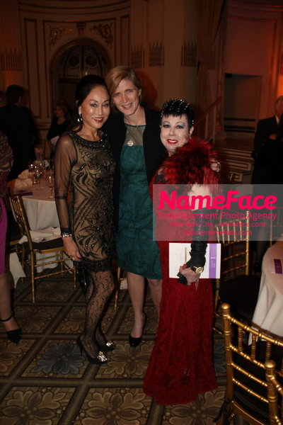 The New York Womens Foundations Annual Fall Gala Lucia Hwong Gordon, Samantha Power and Rosemary Ponzo - NameFace Photo Agency New York City - hello@nameface.com - nameface.com - Photo by
