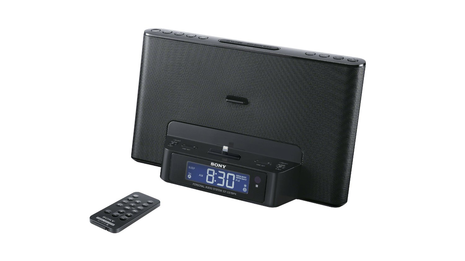 sony icfcs15ipn lightning iphone/ipod clock radio
