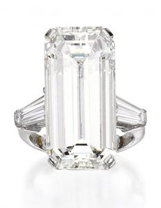 Lot 201 - Platinum and Diamond Ring, Graff